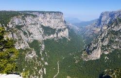 Vikos峡谷在希腊 免版税库存图片