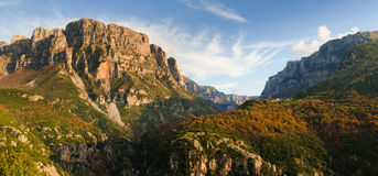 Vikos峡谷 库存图片