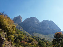 Vikos aoos canyon in zagoria Royalty Free Stock Photos