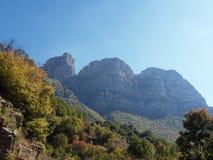 Vikos aoos canyon in zagoria. Greece Royalty Free Stock Photos