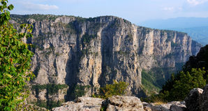 Vikos Aoos canyon in Zagoria, Greece Stock Photography