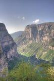 Vikos Gorge. In the Zagoria region of Greece royalty free stock photo