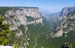Vikos gorge in Greece Royalty Free Stock Images