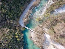 Vikos Gorge River in Northern Greece taken in April 2018 royalty free stock photo