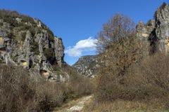Vikos-Schlucht und Pindus-Berge, Zagori, Epirus Lizenzfreies Stockfoto