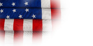 Vikt amerikanska flaggan Royaltyfri Foto