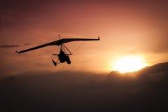 Vikt-förskjutning ultralight flygplan Fotografering för Bildbyråer