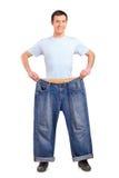 vikt för stående för full längdförlust male Royaltyfria Bilder