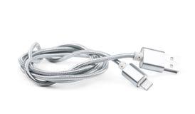 Vikt isolerad USB blixtkabel Arkivbilder