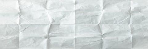 vikt paper arkwhite Krossat och vikt vitt ark av gammalt papper yellow för skugga för paper bana för clippinganmärkning klibbig r Royaltyfria Bilder