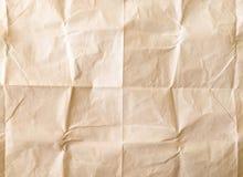 vikt paper arkwhite Krossat och vikt vitt ark av papper yellow för skugga för paper bana för clippinganmärkning klibbig rynkat pa Fotografering för Bildbyråer