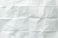 vikt paper arkwhite Krossat och vikt vitt ark av papper yellow för skugga för paper bana för clippinganmärkning klibbig rynkat pa Arkivfoton