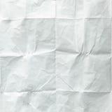 vikt paper arkwhite Krossat och vikt vitt ark av papper yellow för skugga för paper bana för clippinganmärkning klibbig rynkat pa Arkivbilder