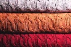 Vikt ull i tre färger Royaltyfria Bilder