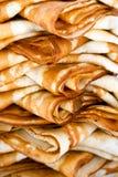 vikta pannkakor Arkivbild