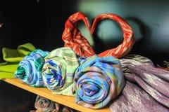 Vikta textiler Royaltyfri Fotografi