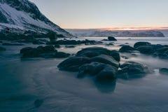 Vikten Beach - Lofoten Beach, Norway Royalty Free Stock Photo