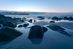 Vikten Beach - Lofoten Beach, Norway Stock Image