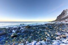 Vikten Beach - Lofoten Beach, Norway Stock Photography