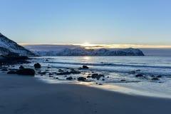 Vikten Beach - Lofoten Beach, Norway Royalty Free Stock Photos