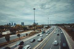 Viktig huvudväg i Toronto Royaltyfria Bilder
