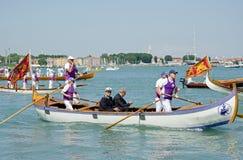 Viktiga gäster på den Festa dellaen Sensa, Venedig Royaltyfri Fotografi