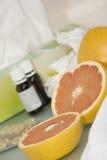 viktiga vitaminer Fotografering för Bildbyråer