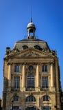 Viktigt bygga på plats de la Börs av Bordeaux Arkivfoto