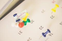 Viktigt datum eller begrepp för upptagen dag royaltyfria foton