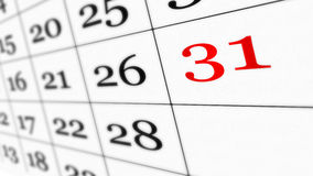 viktigt kalenderdatum Arkivbilder