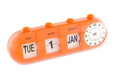 viktigt nytt s år för datumdag Royaltyfri Bild