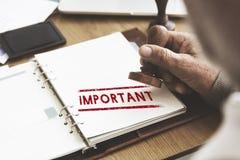 Viktigt prioritera för frågebeställning för uppgifter det akuta begreppet arkivfoto