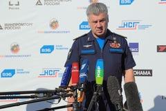 Viktor Bondarev. ZHUKOVSKY, MOSCOW REGION, RUSSIA - AUG 25, 2015: Viktor Nikolaevich Bondarev - Colonel General, Commander-in-Chief of the Russian Air Force at Royalty Free Stock Photo