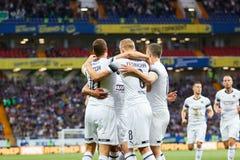 Viktor Claesson de FC Krasnodar comemora ap?s ter marcado o objetivo da sua equipe fotografia de stock royalty free