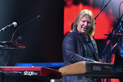 Viktor Drobysh performs on piano on stage during the Viktor Drobysh 50th year birthday concert at Barclay Center Stock Photography