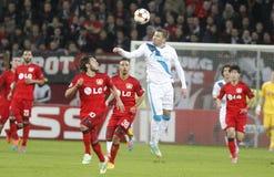 Viktor Fayzulin Bayer 04 Leverkusen v Zénith Saint-Pétersbourg Champion League Stock Image