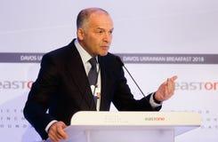 Viktor Pinchuk przy Światowym Ekonomicznym forum w Davos Obrazy Stock