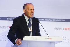 Viktor Pinchuk przy Światowym Ekonomicznym forum w Davos Zdjęcia Stock