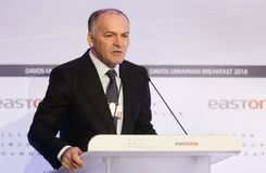 Viktor Pinchuk przy Światowym Ekonomicznym forum w Davos Obraz Royalty Free