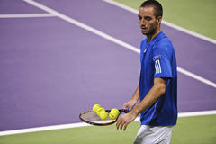 Viktor Troicki at the ATP tennis in Doha Stock Images
