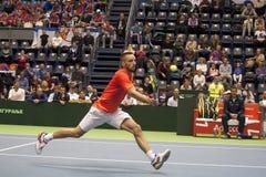 Viktor Troicki return a ball-1 Stock Images
