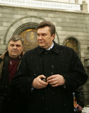 Viktor Yanukovych. On a World Russian People's Council stock photo