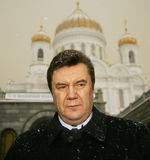 Viktor Yanukovych. On a World Russian People's Council stock photography