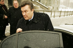 Viktor Yanukovych. On a World Russian People's Council royalty free stock photography