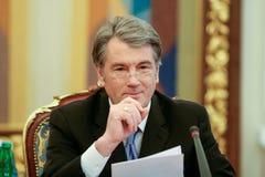 Viktor Yushchenko - den tredje presidenten av Ukraina (2005 till 2010 arkivbilder