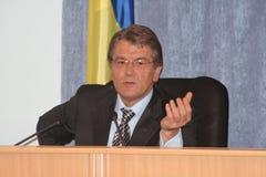 Viktor Yushchenko - presidente de Ucrânia Imagem de Stock Royalty Free