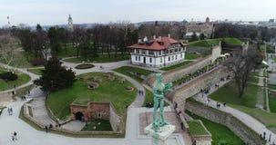 Viktor zabytek w Belgrade, widok z lotu ptaka zbiory