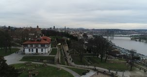 Viktor zabytek w Belgrade, widok z lotu ptaka 2 zbiory wideo