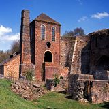 Viktorianische Fabrik, Coalbrookedale, England. Lizenzfreie Stockbilder