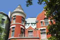 Viktorianische Fassade in altem Louisville, Kentucky, USA Lizenzfreie Stockfotografie